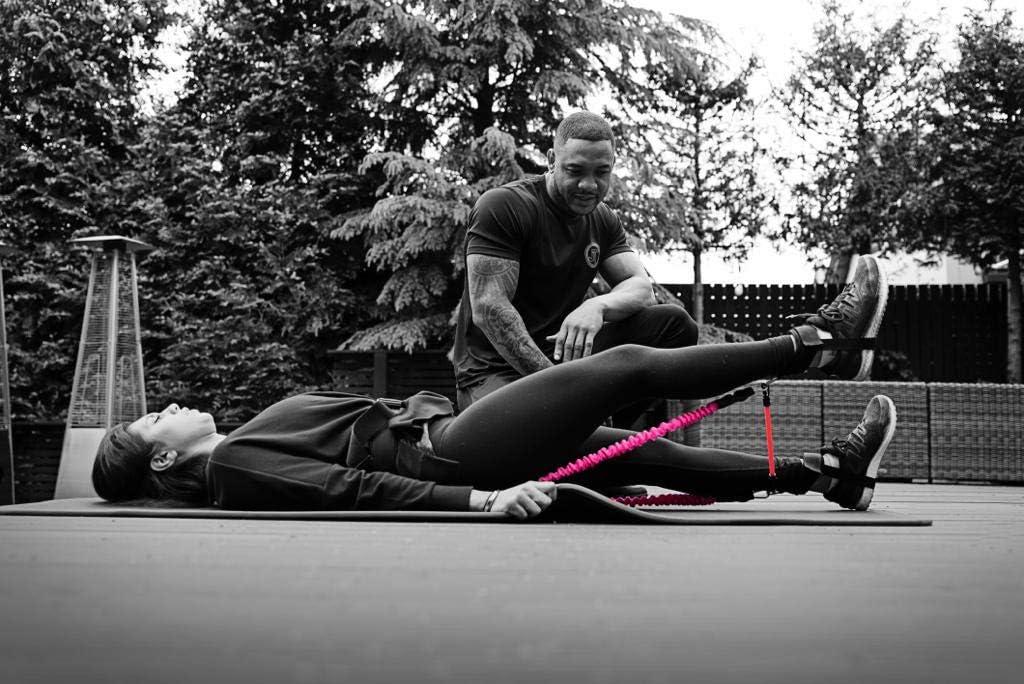 JT Fitness Booty Band Belt gimnasio entrenamiento fitness banda de resistencia para piernas en casa