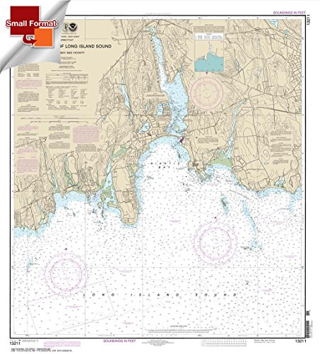 Paradise Cay Publications NOAA Chart 13211: North Shore of Long Island Sound Niantic Bay and Vicinity 21.00 x 19.01 (SMALL FORMAT WATERPROOF)