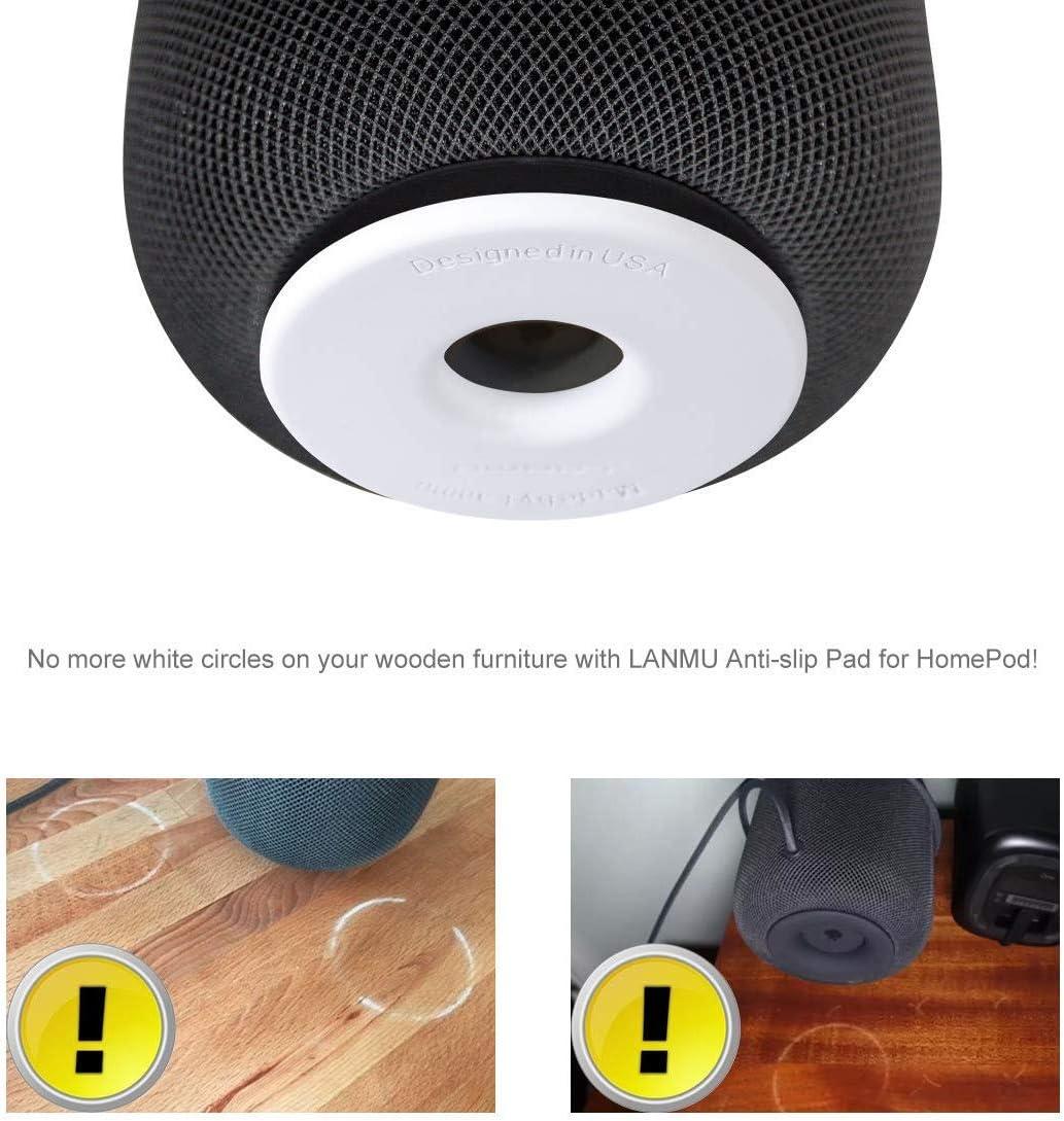 antiurto per Homepod con pellicola protettiva Supporto per Homepod accessori per Apple Homepod sottobicchiere in silicone Lanmu/â Pad antiscivolo per Homepod