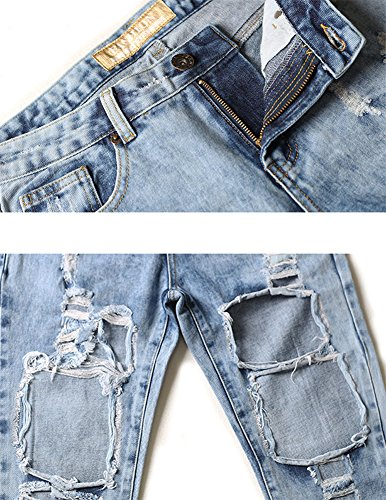 Diritti Jeans Distrutti Slegato Blu Buco Strappato Donna Da Pantaloni Fiore Alta Vita rHwq6zrgxn