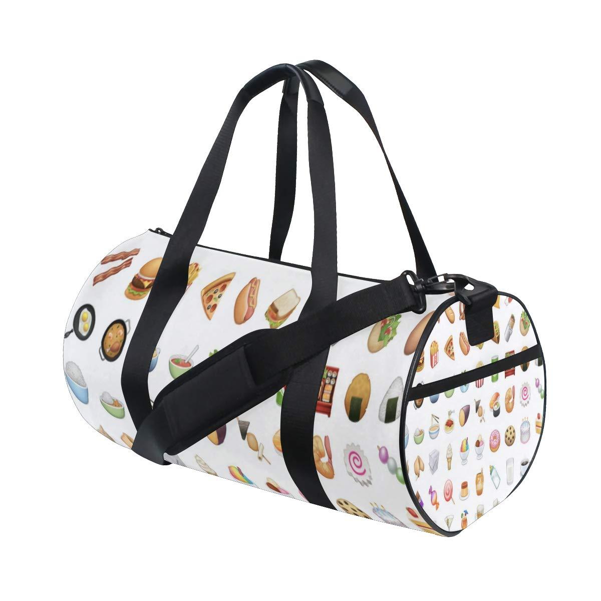 f12ef89e99ba Amazon.com | Duffel Bag Food Emoji Women Garment Gym Tote Bag Best ...