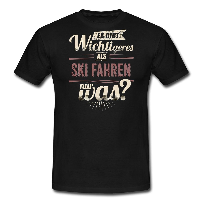 Es Gibt Wichtigeres Als Ski RAHMENLOS Retro Red Sport Motive Geschenk Männer T-Shirt von Spreadshirt®