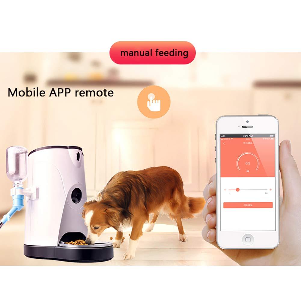 Dispensador Automático Del Alimento Del Alimentador Del Animal Doméstico De Wifi, 4 L Para Los Perros Y Los Gatos Smart Feeder Y Waterer Con El Vídeo En ...