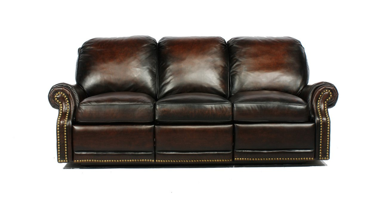 Barcalounger Leather Premier Ii Stetson Coffee 3 Seat