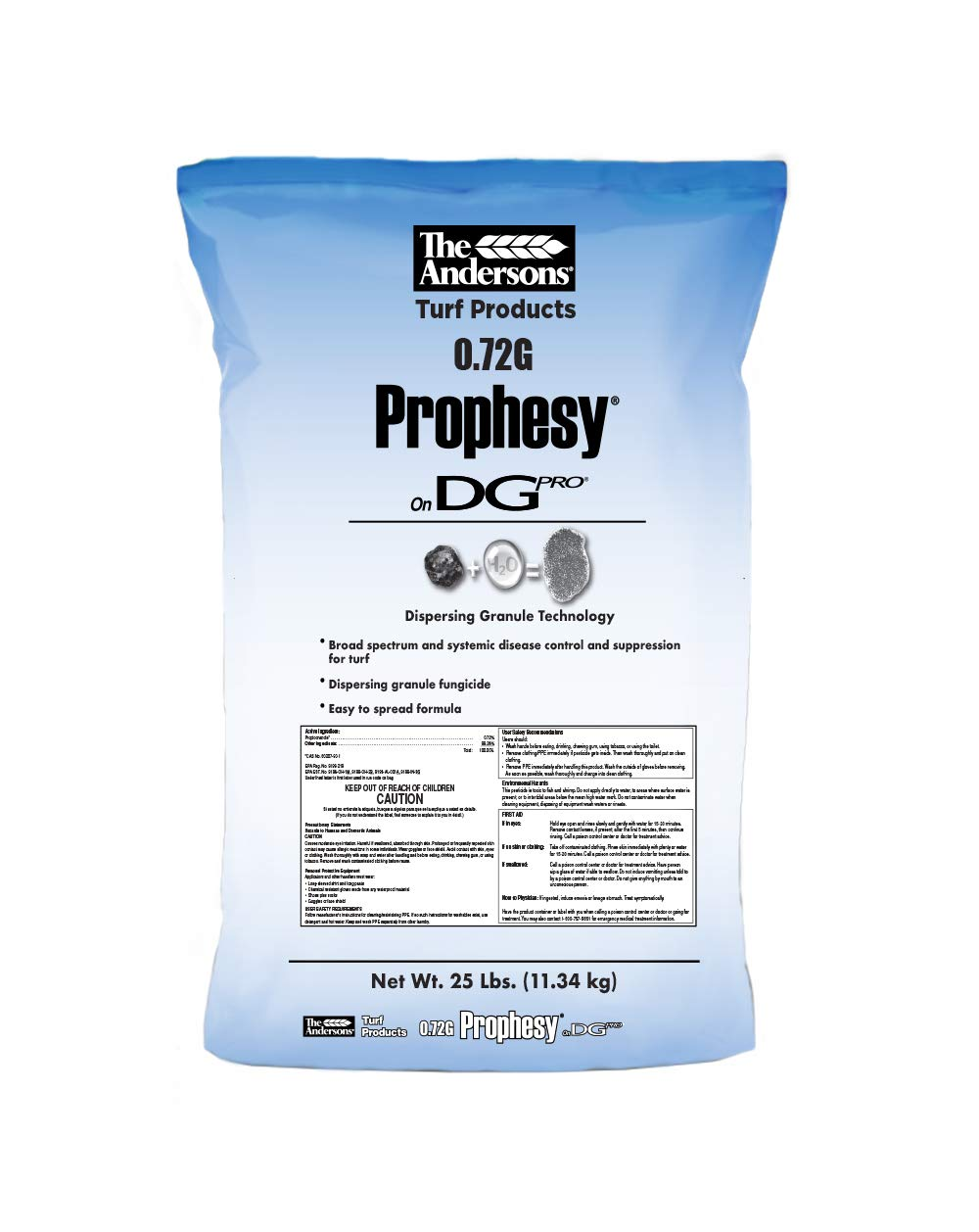 The Andersons Prophesy Propiconazole Broad Spectrum Fungicide on DG Pro, 25lbs (up to 10,000 sq ft.)