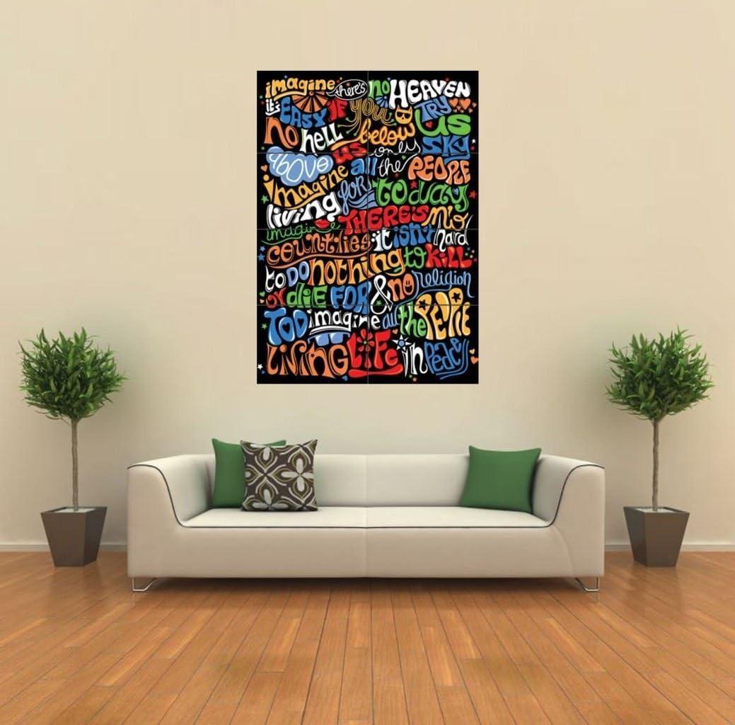Doppelganger33 LTD Imagine- John Lennon Lyrics New Giant Art Print Poster Picture Wall G365…