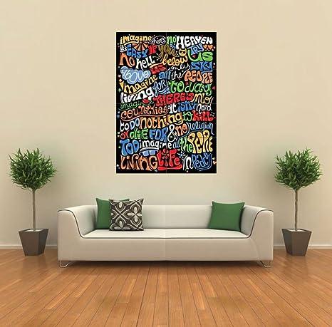 Swell Doppelganger33 Ltd Imagine John Lennon Lyrics New Giant Art Print Poster Picture Wall G365 Ibusinesslaw Wood Chair Design Ideas Ibusinesslaworg