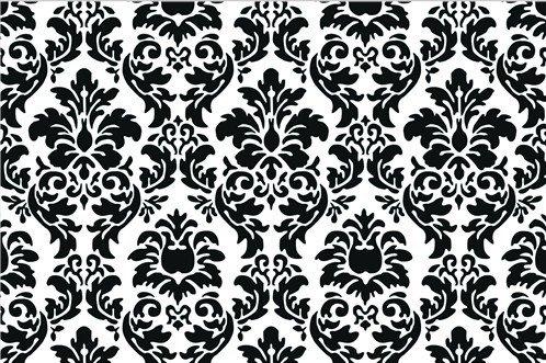 Black And White Damask Fabric Door Mat Rug Indoor/Outdoor/Front Door/Shower Bathroom Doormat, Non-slip Doormats, 18-Inch by 30-Inch White Indoor Outdoor Rugs