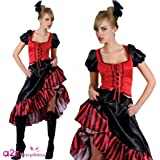 Can Can Saloon Girl Fancy Dress Film Moulin Rouge Costume