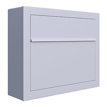 Bravios Briefkasten briefkasten design wandbriefkasten elegance weiß bravios amazon