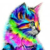 NABLUE DIY 5D Diamond Painting Kit,Full Drill Cute Cat Embroidery Cross Stitch Arts Craft Canvas Wall Decor
