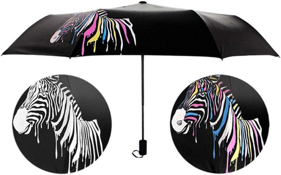 Fashion Folding Umbrellas With Cat Eyes Halloween Pattern Printed Travel Umbrella
