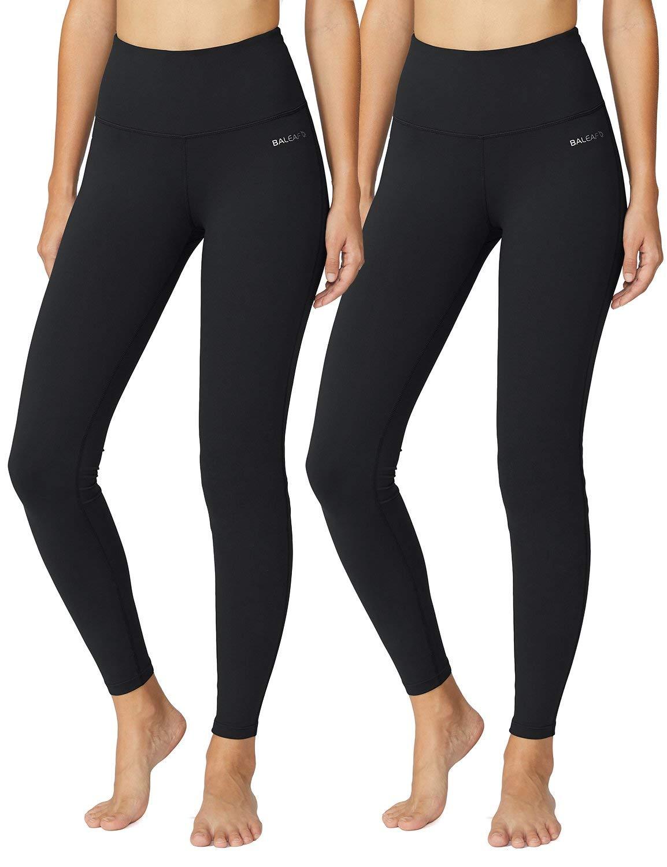 fd869a1f7bd BALEAF Women's High Waist Yoga Pants Inner Pocket Non See-Through Fabric