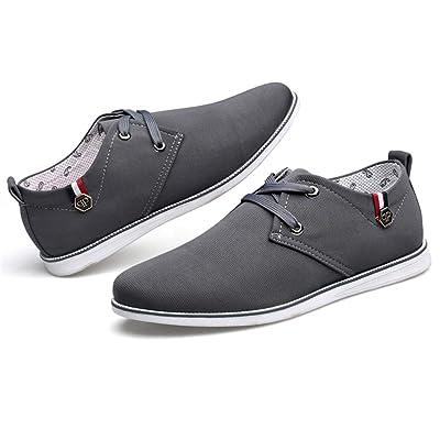 fe45cb5a8552 Chaussure de Ville a Lacet Homme Printemps-Automne Basse Plate Chaussure de  Marche au Loisir