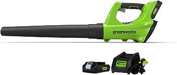 GreenWorks 2400702 24V Cordless Jet Leaf Blower with 2Ah Battery