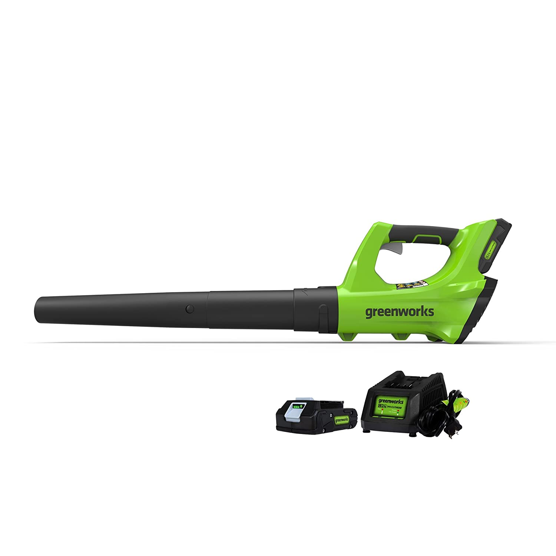 Greenworks 24V Cordless Jet Blower, 2.0 AH Battery Included 2400702