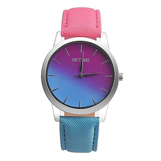 Relojes Marea Mujer Sunday Reloje Con Correa De Piel Relojes Inteligentesrelojes Reloj Gradiente Color Mujer Arco