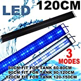 Zeiger Eco Aquarium Hood Led Lighting Fish Tank Light, White and Blue Adjustable 48'' - 60' 120cm -150cm
