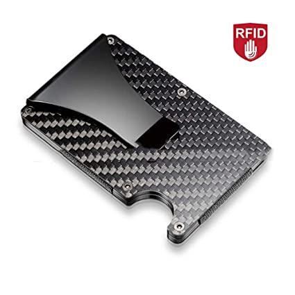 Konesky Carpeta de Fibra de Carbono RFID Signal Block Wallet ...