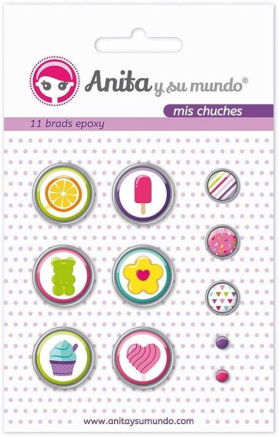 Anita y Su Mundo 37050123 - Pack 11 brads, diseño Epoxy mis ...
