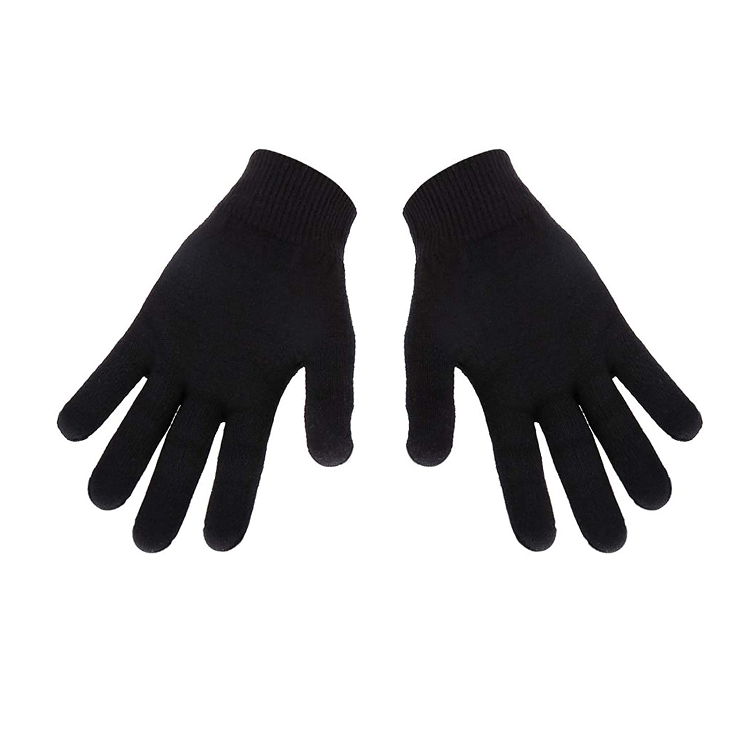 EXPER Men's Large Moisturizing Gloves with Gel Lining - Dry Hands Treatment Hydrating Cracked Hand Healing Gloves - Repair Rough, Chapped Skin Overnight (Black) : Beauty
