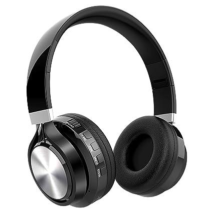 Auriculares Bluetooth de Diadema Inalámbricos, NickSea Auriculares Plegables con Micrófono Manos Libres Cascos Bluetooth Función