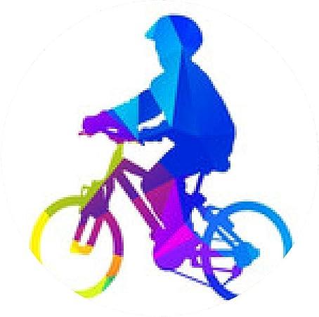 alfombrilla de ratón niño del vector en bicicleta. silueta del ...