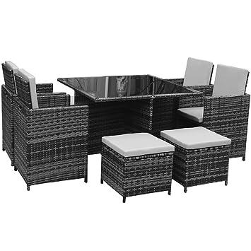 Gartenmöbel set lounge grau  Amazon.de: Polyrattan Lounge Gartenmöbel Set Garnitur Sitzgruppe ...