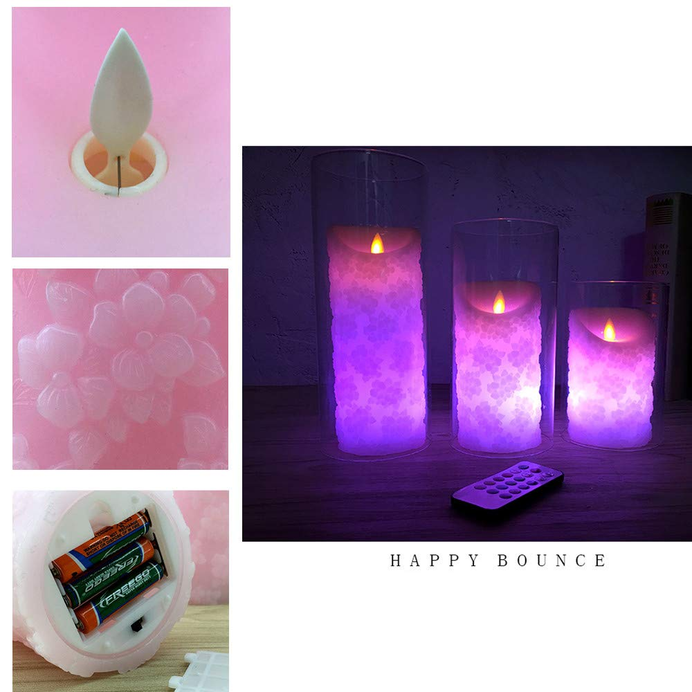 Ocamo Kerzen Geschenk,LED Kerzen f/ür Halloween,Weihnachten,Party,Bar,Hochzeit,Romantische rosa gepr/ägte elektronische Kerze LED,Hellrosa Durchmesser 8 12,5 cm