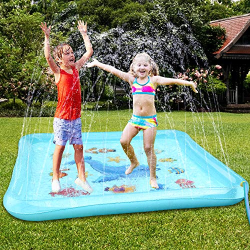 Epoch Air Sprinkler Pad & Splash Play Mat, 67″ Outdoor Water Toddler Toys Summer Fun Game, Perfect Inflatable Outdoor Toys Sprinkler for Kids Boys Girls
