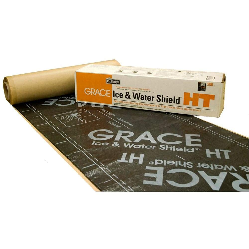 Grace Ice & Water Shield HT 200 Roofing Underlayment, 66.6' x 36''