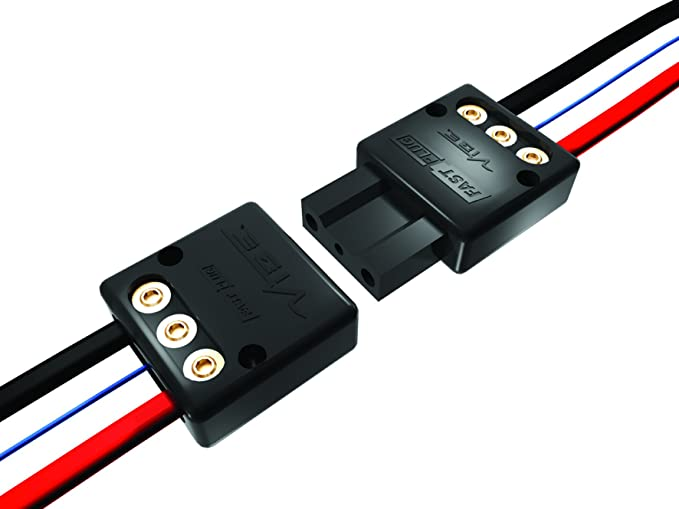 Vibe 50177 Fast Plug 3 Poliges Steckverbinderset Für Elektronik