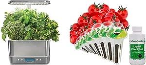AeroGarden Harvest Elite - Stainless Steel & Red Heirloom Cherry Tomato Seed Pod Kit