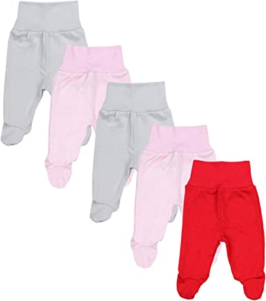TupTam Baby Jungen Strampelhose mit Fu/ß 5er Pack