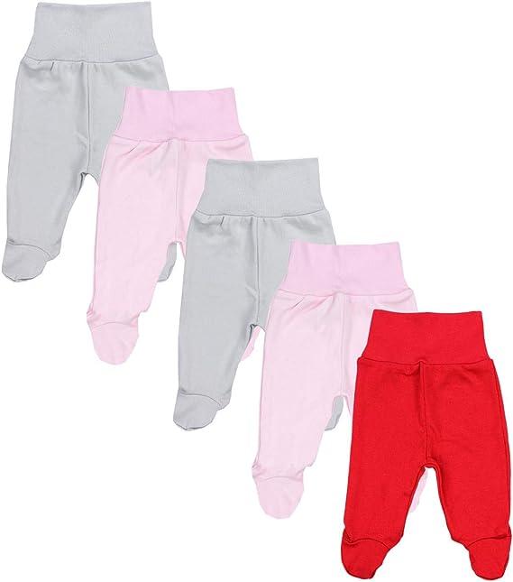 TupTam Pantalon avec Pieds pour B/éb/é Fille Lot de 5