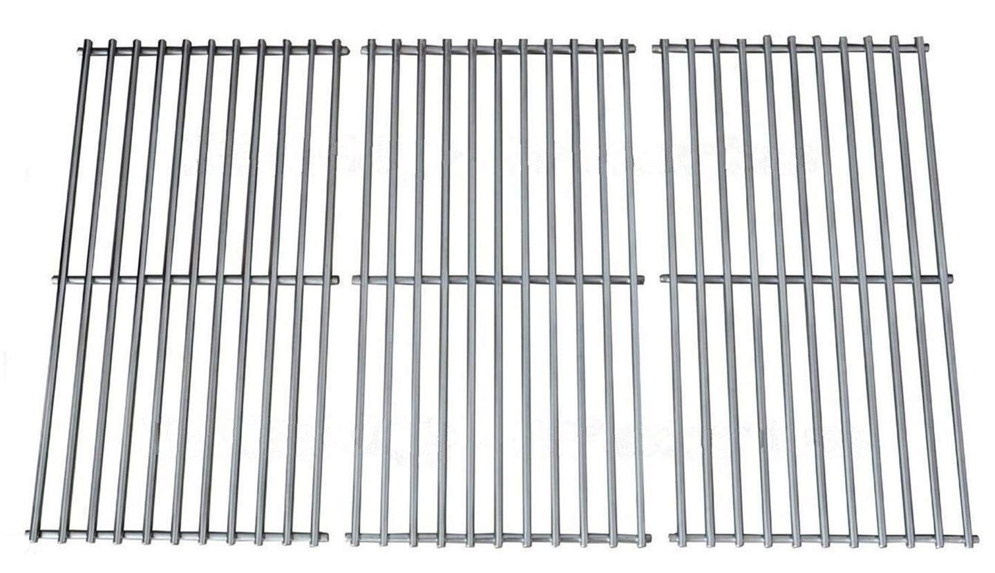 Votenli S6876C (3-Pack) Stainless Steel Cooking Grid Grates Replacement for Charbroil, Kenmore and Others(16 7/8 X 9 5/16)