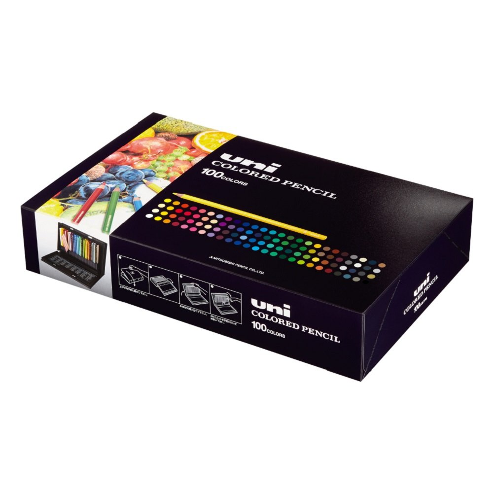 Mitsubishi Pencil Uni Colored Pencils 100 Colors Set by Mitsubishi Pencil