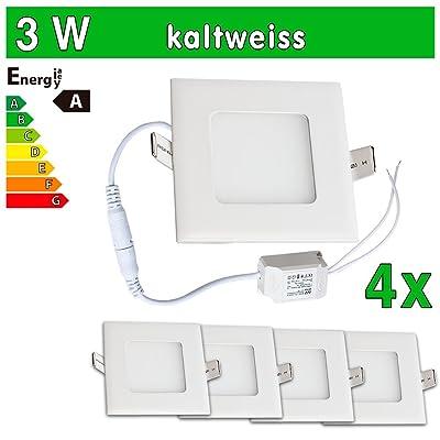 4x LEDVero ULTRASLIM Panneau LED SMD 28353W carré blanc froid Lampe Plafonnier encastrable Spot Lumière sp129