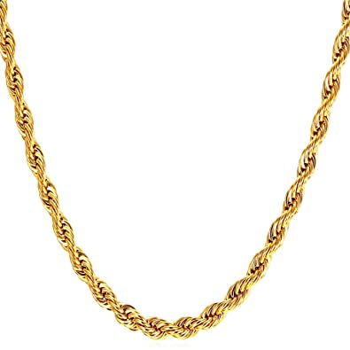 gold p at faae necklace jewelry chain banggood plated men