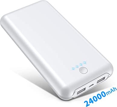 Batería Externa 24000 mAh, 4 LED Indicadores Power Bank (Doble ...