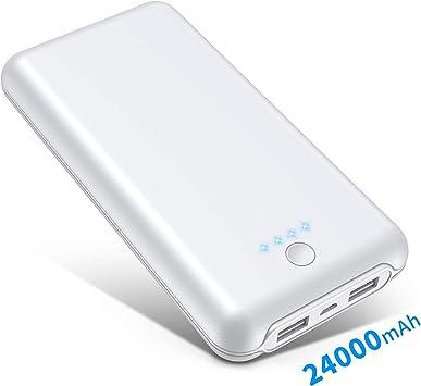 Batería Externa 24000 mAh, 4 LED Indicadores Power Bank (Doble ...