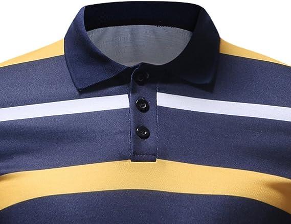 Camiseta para Hombre, Verano Polo Rayas Impresión Camiseta Deporte ...