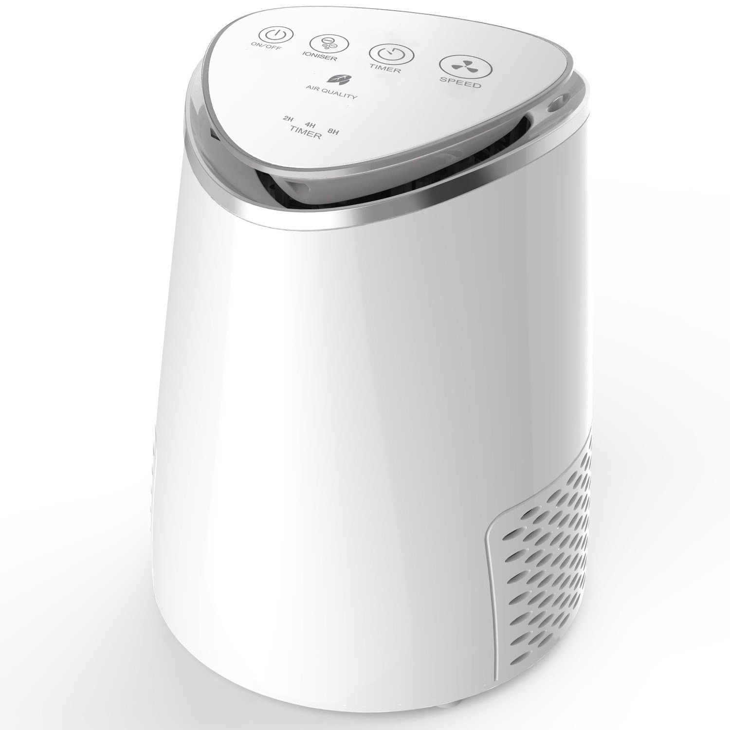 Compact Ultra Quiet Hepa and Plasma Air Purifier with Anti-Bacterial Technology electriQ