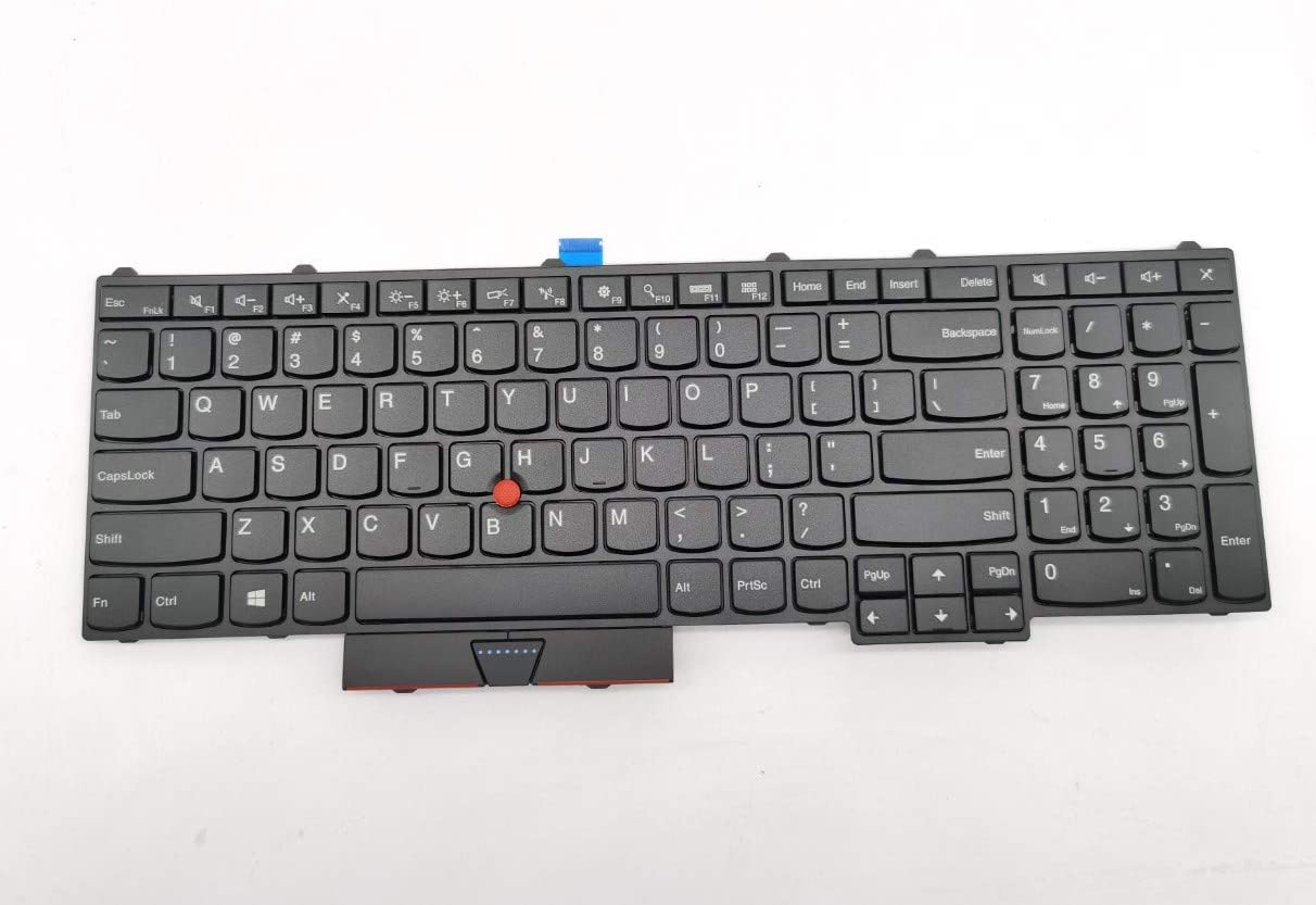 Moon2020 Replacement Keyboard Compatible with for Lenovo Thinkpad P50 P51 P70 Laptop Without Backlit US Layout