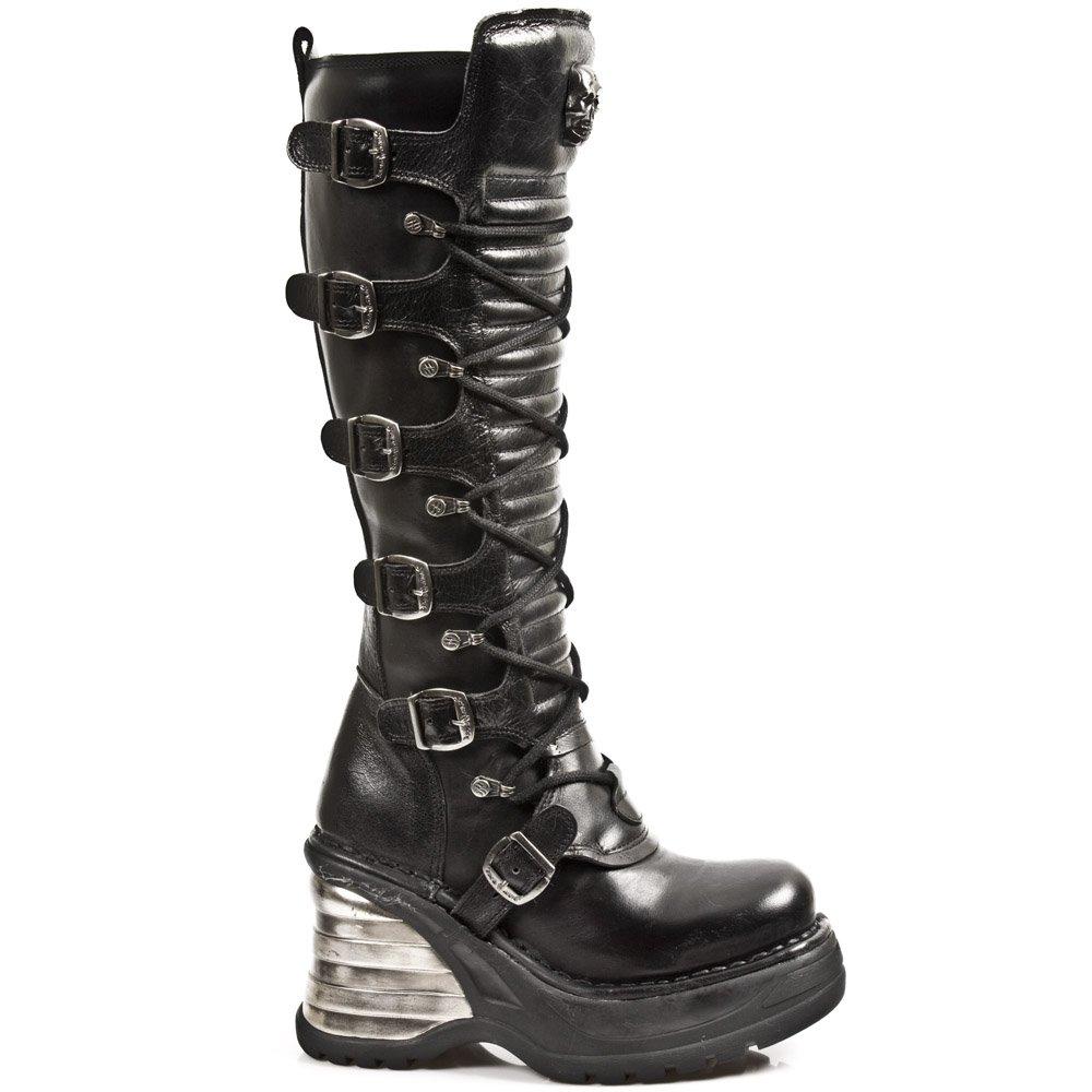 New Rock 8272-S1 - Botas de cuero para mujer42 EU|Black, Black