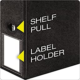 Cardinal Prestige Locking Slant-D Ring Binder, 5-Inch, with Label Holder, Black (18061V2)