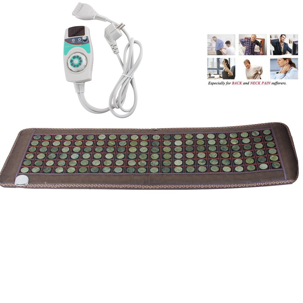 Zinnor Massage Mattress Natural Jade Tourmaline Stones Sofa Pad Infrared Heating Mat 19.68X 59.05''
