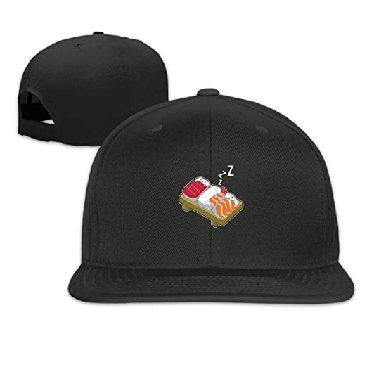 48da9ea0753ac Image Unavailable. Image not available for. Color  Jusxout Sleeping Sushi  Snapback Hats ...
