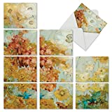 M6590OCB Batik Blossoms: 10 Assorted Blank All-Occasion Note Cards Featuring a Cropped Collage of Dreamy Watercolor Flowers That Create a Whole Image When Viewed Together, w/White Envelopes. offers