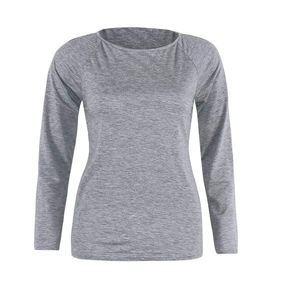 ba548cd599 Sweatshirt Damen Kolylong® Frauen Elegant Rückenfreies Oberteil Festliche  Blusen Lässige Langarm Shirts Mode Rundhals Pullover